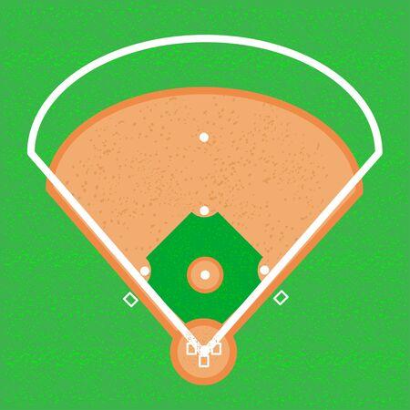 Baseball softball field illustration background layout