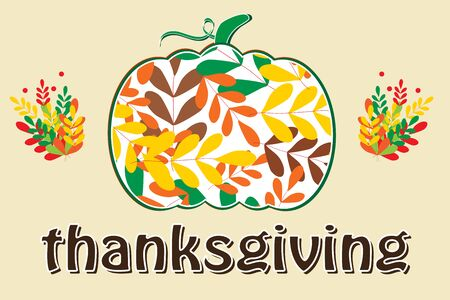 Happy thanksgiving colorful card background vector illustration