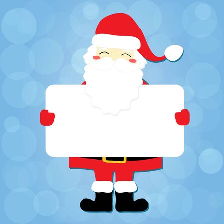 Christmas card Santa message vector illustration layout