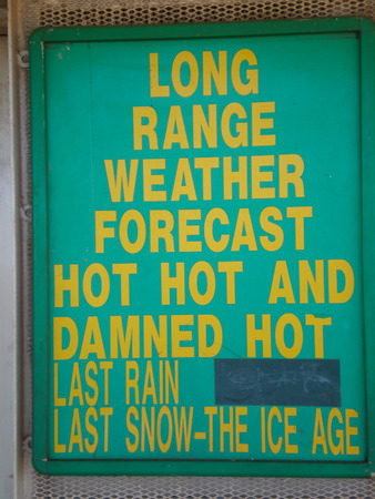 australian outback: Nice and funny Weather Forecast in the Australian Outback Stock Photo