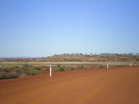 australian outback: Freight train in the australian outback