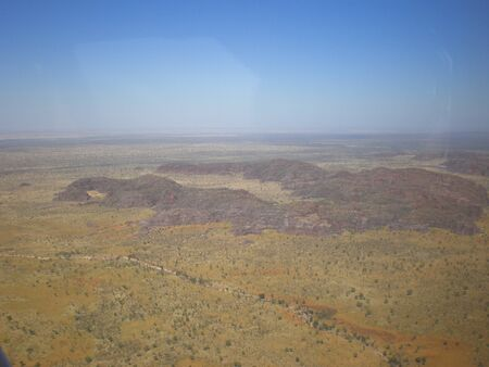 australian outback: Aerial View of the australian Outback Stock Photo