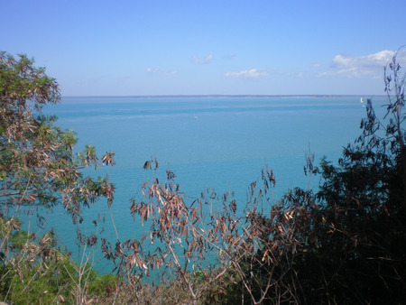 Panoramic view over the ocean in the northern Territorry of Australia