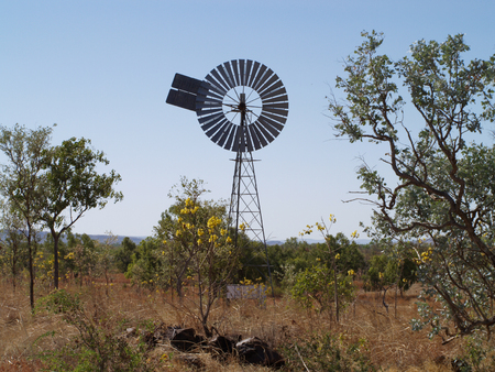 australian outback: Windmill in the australian outback Stock Photo