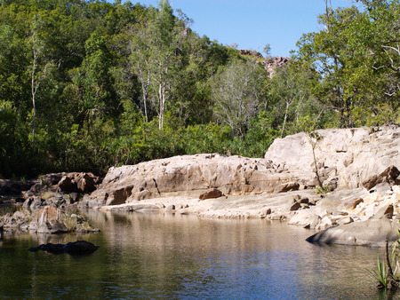 River in the australian outback Stock Photo