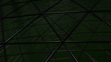 Triangular grid, useful as background for technology, science, and dark and scary backgrounds in entertainment and advertising applications Stok Fotoğraf