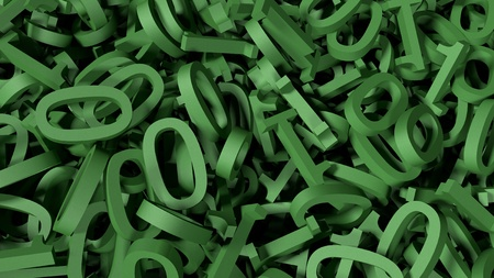 Green Binary Codes in a Chaos (3d Rendering) Stok Fotoğraf