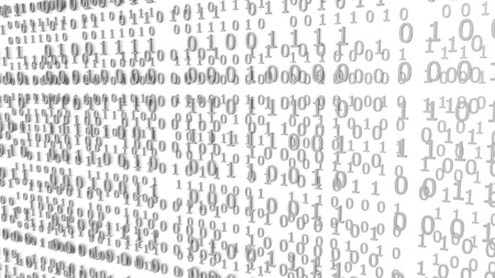 Gray Binary Codes on a white Background (3d Rendering) Stok Fotoğraf