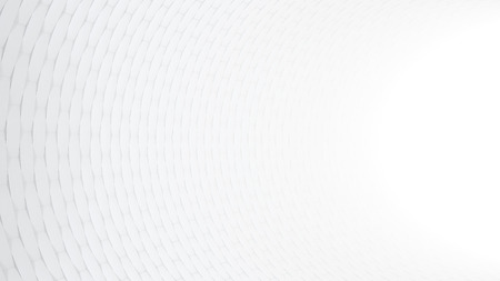 Abstract White Tunnel with Tiles