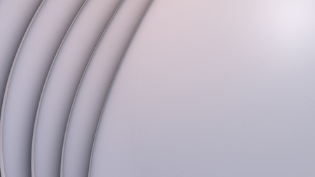 Abstract Background with layered Hemispheres (3d Rendering)