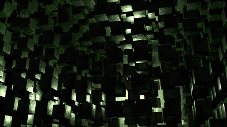 Dark Abstract Cube Background