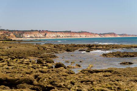 region of algarve: Rocks and rocky beach, ocean, Algarve region, Portugal