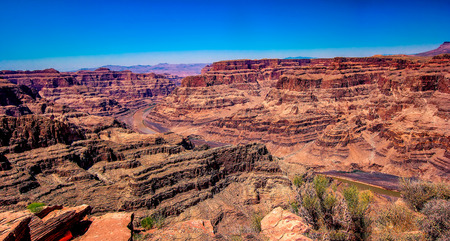 View of the Canyons of the Grand Canyon National Park in the United States