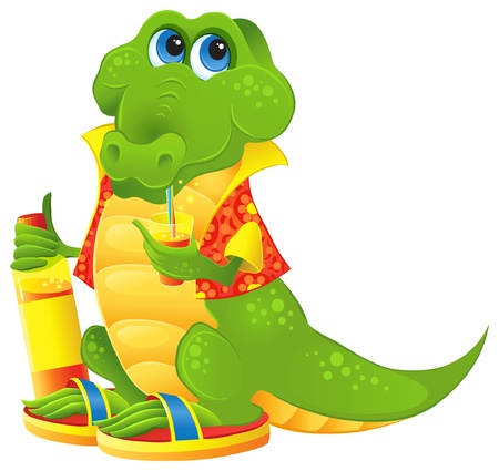 Cute Animal Character for the advertising of soft drinks and juices Vector