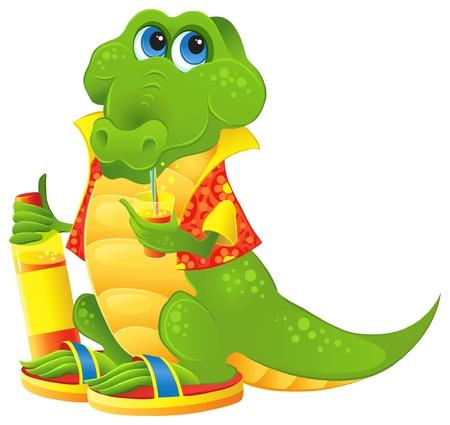 fruit du dragon: Cute Animal personnage pour la publicit� de boissons gazeuses et de jus