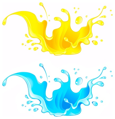 carbonated: Splash Juice Drink. Water splash Illustration
