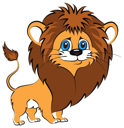Little cute lion with blue eyes