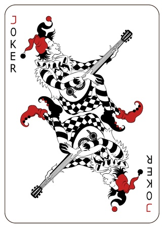 Joker Playing Card Stock Vector - 9358258
