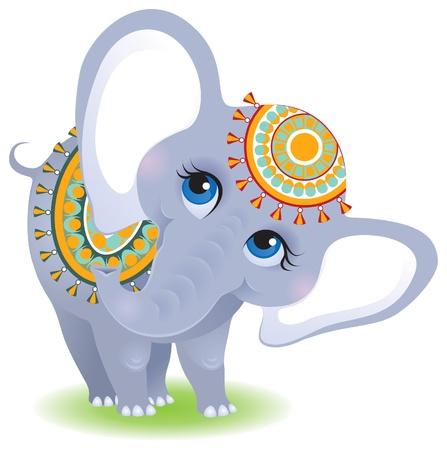 elefante: Elefante indio Vectores