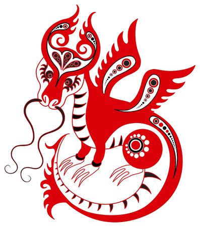 Chinese horoscope. Year of the dragon Illustration
