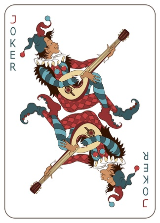 mandolino: Carta da gioco Joker