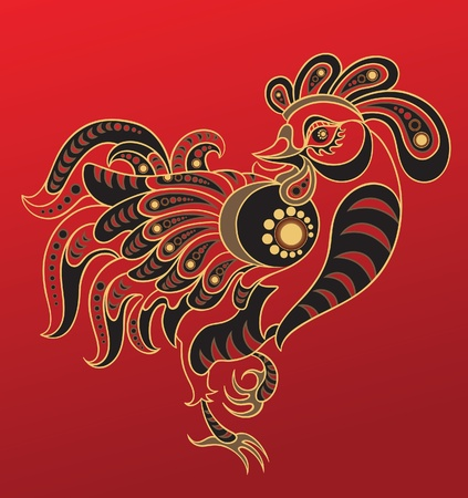 year of rooster: Horoscopo chino. A�o del Gallo Vectores