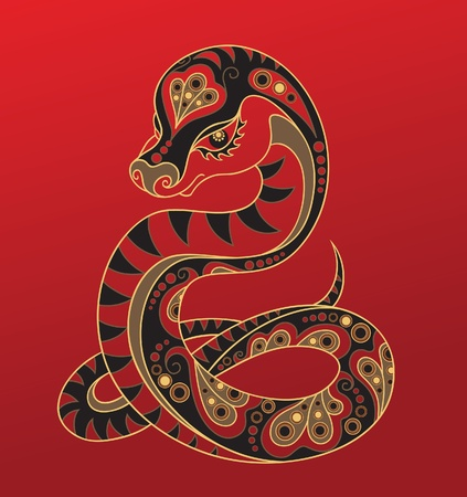 Chinese horoscope. Year of the snake Vector