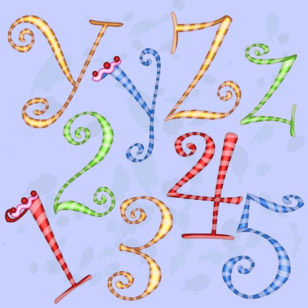 Holiday alphabet Vector