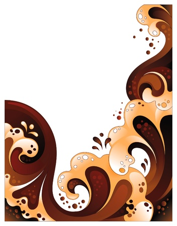 chocolate splash: Abstract coffee background. No transparency, mesh or blends