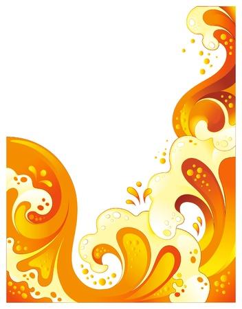 splash color: Bevanda sfondo astratto. No trasparenza, mesh o miscele