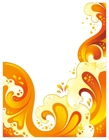 Abstract drink background. No transparency, mesh or blends Vectores