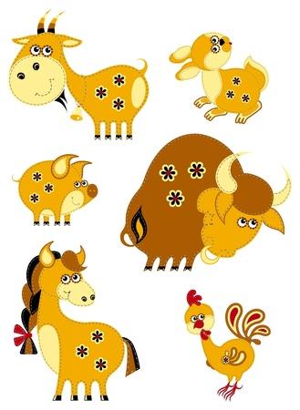 cabras: Los animales de granja establecido