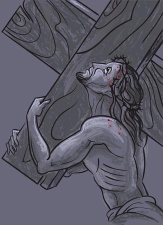 redemption: Jesus. Way to Calvary Stock Photo