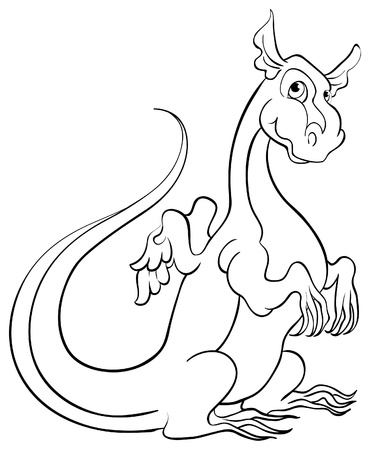 Coloring book with dragon Stock Vector - 13807658