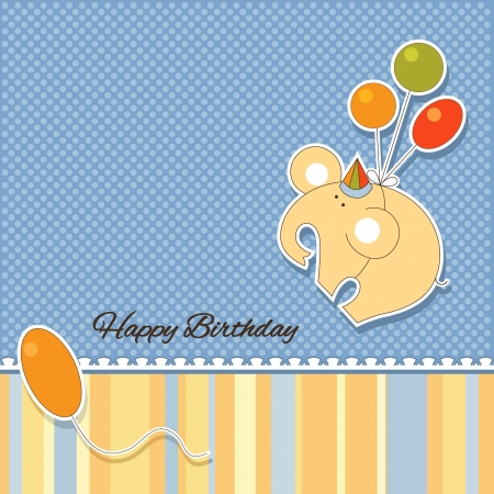 It s a baby boy announcement card Vector