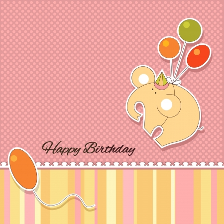 It s a baby girl announcement card Vector