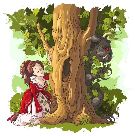 Beauty and the Beast bu Charles Perrault Vector