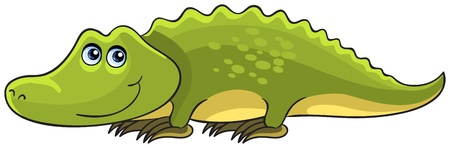 Crocodile  Cartoon african wild animal character Vector