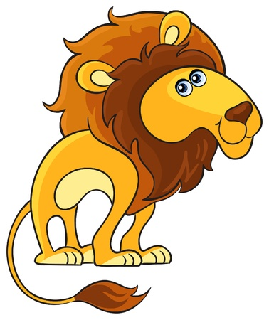 Lion  Cartoon african wild animal character Vector