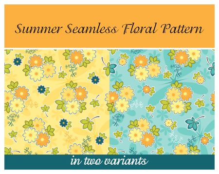 Summer Seamless Floral Pattern Vector