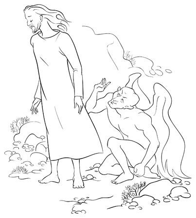 new testament: Jesus Christ Temptation in the Wilderness