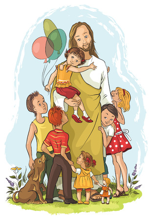 god's: Jesus with children