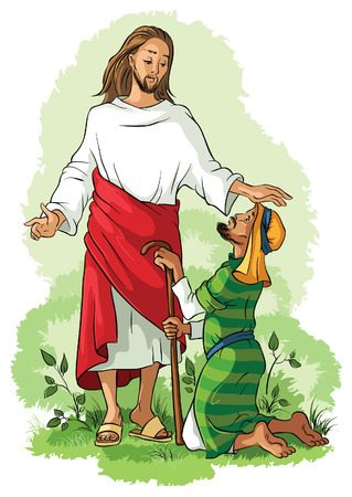character of people: Jesus Christ healing a lame man
