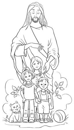 jezus: Jezus z dziećmi. Strona Kolorystyka