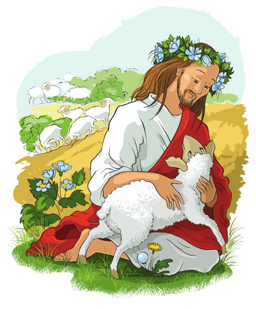 love image: The parable of the lost sheep