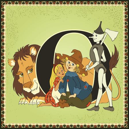wonderful: Fairytale alphabet.  Letter O. The Wonderful Wizard of Oz by Lyman Frank Baum