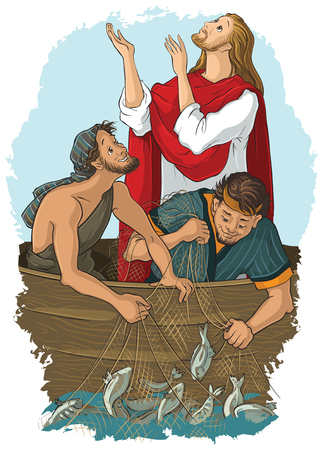 The Gospel story where Jesus give his blessing to a great catch