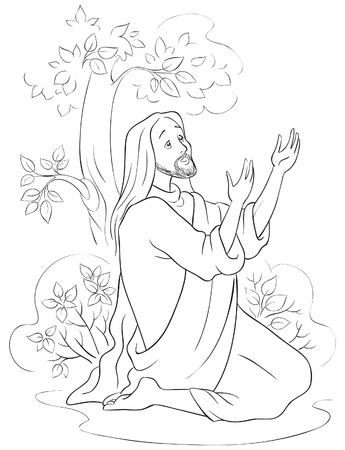 The agony in the garden Coloring page