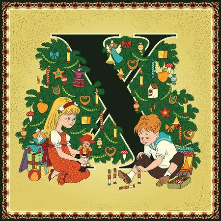 Fairytale alphabet. Letter X. Xmas. The Nutcracker and the Mouse King by ETA Hoffmann
