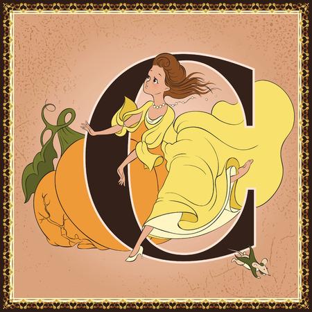 Fairytale alphabet. Letter C. Cinderella by Charles Perrault